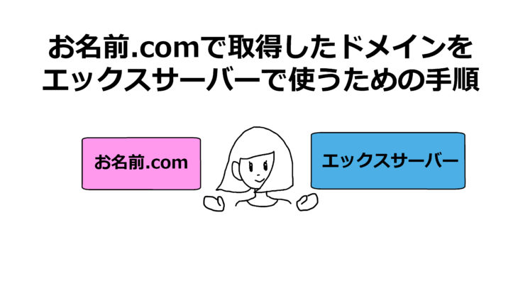 お名前.comで取得したドメインをエックスサーバーで使うための手順