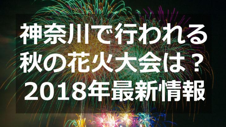 神奈川で行われる秋の花火大会は?2018年最新情報まとめ